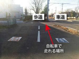 普通自転車通行指定部分